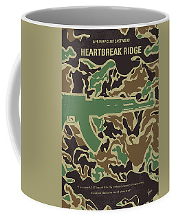 Coffee Mug featuring the digital art No747 My Heartbreak Ridge Minimal Movie Poster by Chungkong Art