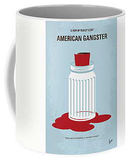 Coffee Mug featuring the digital art No748 My American Gangster Minimal Movie Poster by Chungkong Art