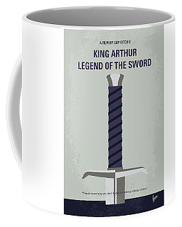 Coffee Mug featuring the digital art No751 My King Arthur Legend Of The Sword Minimal Movie Poster by Chungkong Art