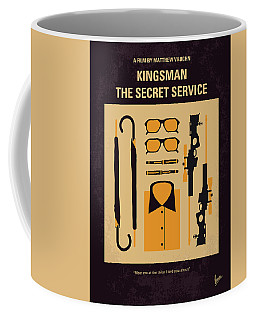 Coffee Mug featuring the digital art No758 My Kingsman Minimal Movie Poster by Chungkong Art