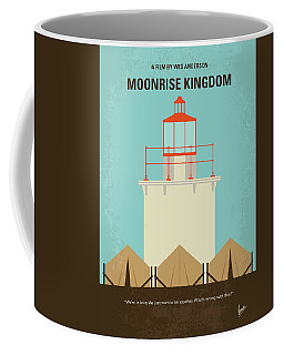 Coffee Mug featuring the digital art No760 My Moonrise Kingdom Minimal Movie Poster by Chungkong Art
