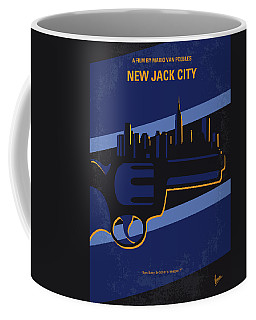 Coffee Mug featuring the digital art No762 My New Jack City Minimal Movie Poster by Chungkong Art