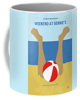 Coffee Mug featuring the digital art No765 My Weekend At Bernies Minimal Movie Poster by Chungkong Art