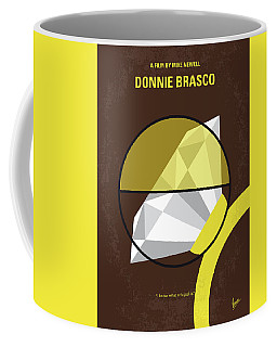 Coffee Mug featuring the digital art No766 My Donnie Brasco Minimal Movie Poster by Chungkong Art
