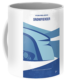 Coffee Mug featuring the digital art No767 My Snowpiercer Minimal Movie Poster by Chungkong Art