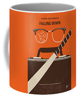 Coffee Mug featuring the digital art No768 My Falling Down Minimal Movie Poster by Chungkong Art