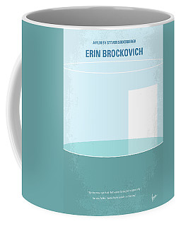 Coffee Mug featuring the digital art No769 My Erin Brockovich Minimal Movie Poster by Chungkong Art
