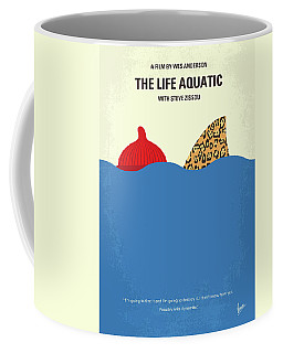 Coffee Mug featuring the digital art No774 My The Life Aquatic With Steve Zissou Minimal Movie Poster by Chungkong Art