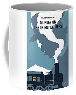 No883 My Murder On The Orient Express Minimal Movie Poster Coffee Mug