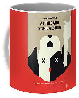 No893 My A Futile And Stupid Gesture Minimal Movie Poster Coffee Mug