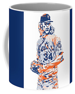 Noah Syndergaard New York Mets Pixel Art 1 Coffee Mug