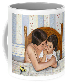 Noah Takes Time For Kira Coffee Mug by Marlene Book