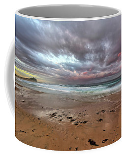 Nobbys Beach At Sunset Coffee Mug