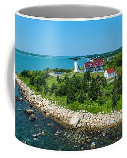 Coffee Mug featuring the photograph Nobska Lighthouse by Michael Hughes