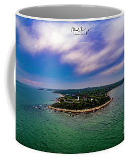 Nobska Lighthouse Panorama Coffee Mug