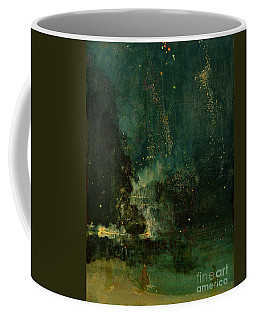 Nocturne In Black And Gold - The Falling Rocket Coffee Mug