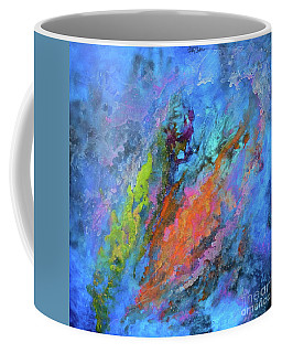 Nocturne Nebula Abstract Painting Coffee Mug