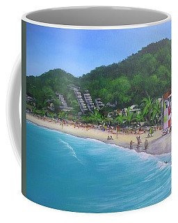 Coffee Mug featuring the painting Noosa Fun Acrylic Painting by Chris Hobel