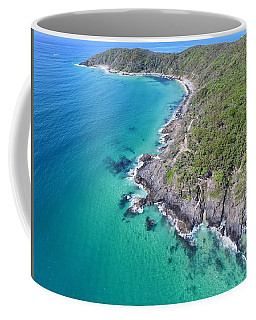 Coffee Mug featuring the photograph Noosa National Park Aerial View by Keiran Lusk