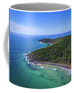 Coffee Mug featuring the photograph Noosa National Park Coastal Aerial View by Keiran Lusk