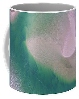 Coffee Mug featuring the photograph Noosa River Abstract Aerial Image by Keiran Lusk
