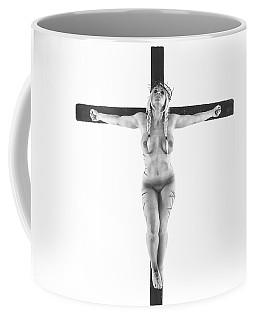 Nordic White Crucifix Coffee Mug