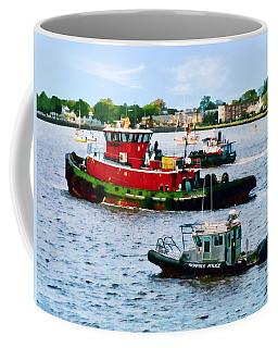 Norfolk Va - Police Boat And Two Tugboats Coffee Mug