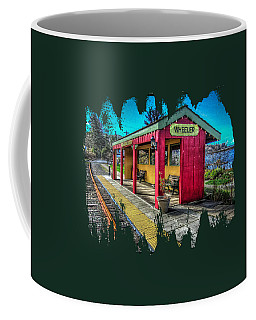 Coffee Mug featuring the photograph Norm Laknes Train Station by Thom Zehrfeld