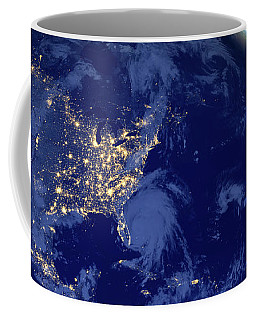 Coffee Mug featuring the photograph North America From Space by Delphimages Photo Creations