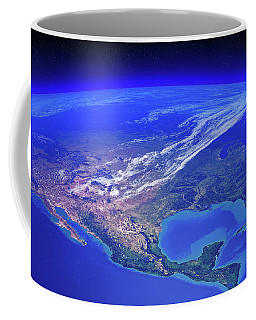 North America Seen From Space Coffee Mug