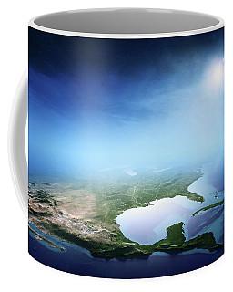 North America Sunrise Aerial View Coffee Mug