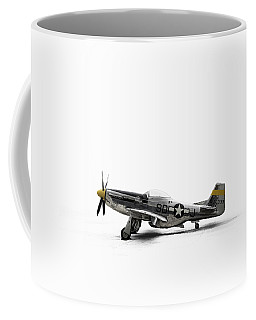 Coffee Mug featuring the digital art North American P-51 Mustang by Douglas Pittman