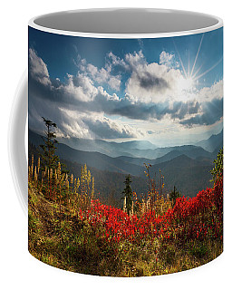 North Carolina Blue Ridge Parkway Scenic Landscape In Autumn Coffee Mug