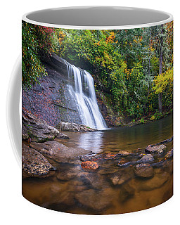 North Carolina Nature Landscape Silver Run Falls Waterfall Photography Coffee Mug