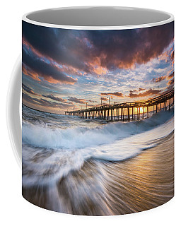 North Carolina Outer Banks Seascape Nags Head Pier Obx Nc Coffee Mug