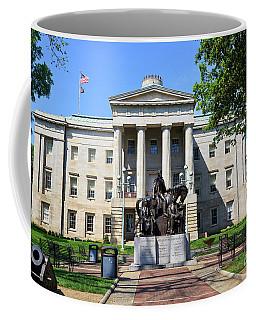 North Carolina State Capitol Building With Statue Coffee Mug