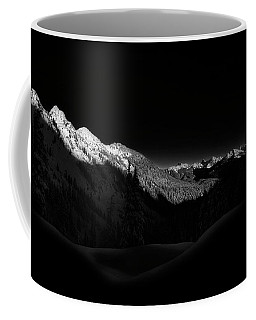 North Cascades National Park Black And White Coffee Mug