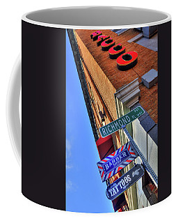 Coffee Mug featuring the photograph North End Boston Signs - Bacco by Joann Vitali