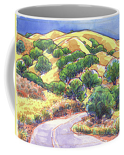 Coffee Mug featuring the painting North Gate Road, Mount Diablo by Judith Kunzle