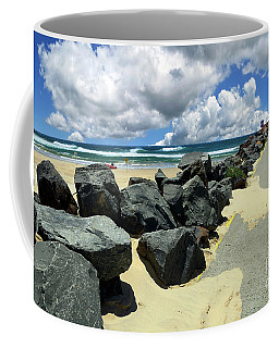 North Haven Breakwater Walkway By Kaye Menner Coffee Mug