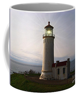 Coffee Mug featuring the photograph North Head Light by Charles Robinson