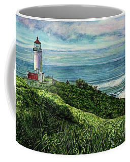 North Head Lighthouse And Beyond Coffee Mug