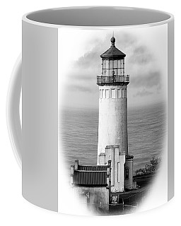 North Head Lighthouse Black And White Photograph Coffee Mug by Greg Sigrist