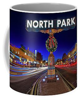 Coffee Mug featuring the photograph North Park Christmas Rush Hour by Sam Antonio Photography