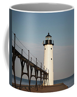 Coffee Mug featuring the photograph North Pier Lighthouse by Sally Sperry