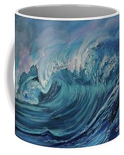 North Shore Wave Oahu Coffee Mug by Jenny Lee