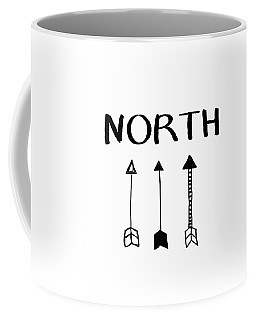 North With Arrows- Art By Linda Woods Coffee Mug