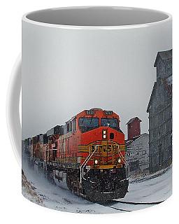 Northbound Winter Coal Drag Coffee Mug