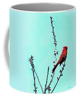 Northern Cardinal In Tree Coffee Mug