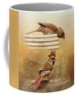 Northern Cardinals At Sunrise Coffee Mug by TnBackroadsPhotos